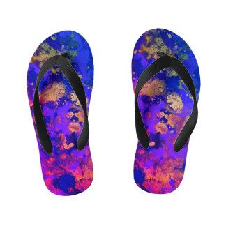Neon Purple Haze Kid's Flip Flops