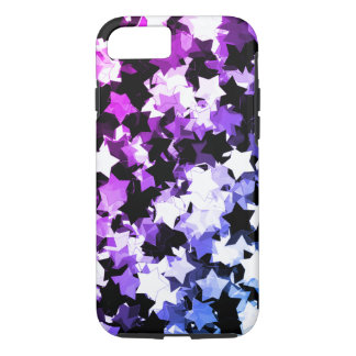 Neon Purple Kawaii Stars Shibuya Night iPhone 8/7 Case