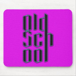 Neon Purple Old School Mouse Pad