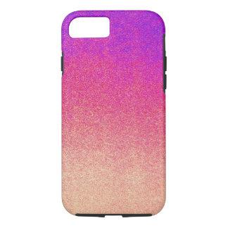 Neon Purple Pink Peach Ombre Spray Paint Texture iPhone 7 Case