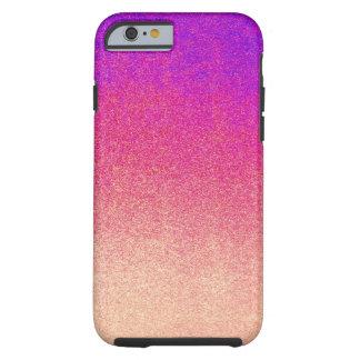 Neon Purple Pink Peach Ombre Spray Paint Texture Tough iPhone 6 Case