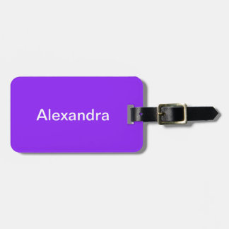 Neon Purple Solid Color Customize It Luggage Tag