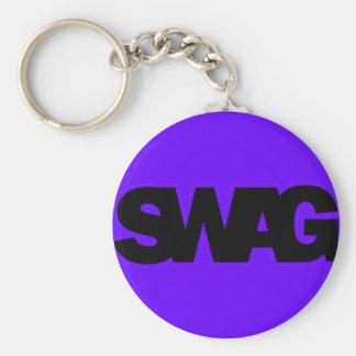 Neon Purple SWAG Key Chain