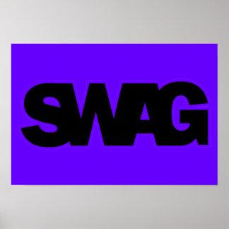 Neon Purple SWAG Poster