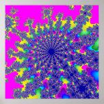 Neon Rainbow Burst Poster