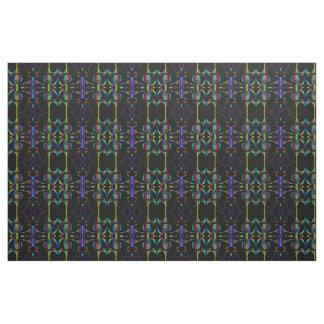 neon rainbow Fabric, colorful house textile Fabric