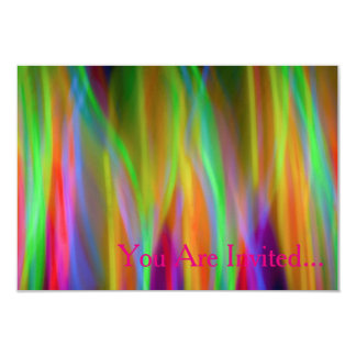Neon Rainbow Invitation