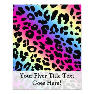 Neon Rainbow Leopard Pattern Print 11.5 Cm X 14 Cm Flyer