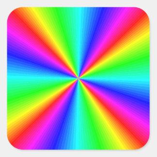 Neon Rainbow Prism Square Sticker