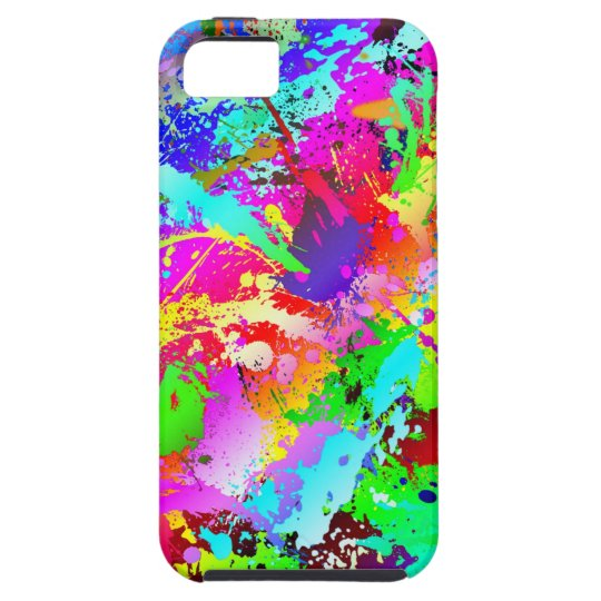 Neon Rainbow Splatter Case For The iPhone 5