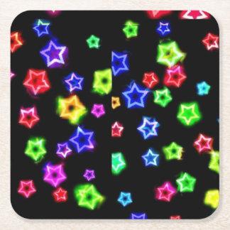 Neon Rainbow Stars Coasters