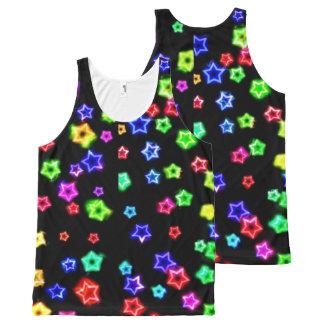 Neon Rainbow Stars Tank Top All-Over Print Tank Top