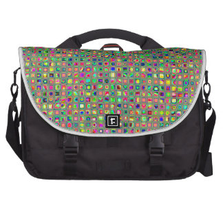 Neon Rainbow Textured Mosaic Tiles Pattern Bags For Laptop