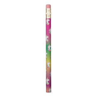 Neon Rainbow Unicorn Pencil