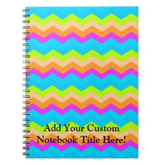 Neon Rainbow Zigzag Notebook