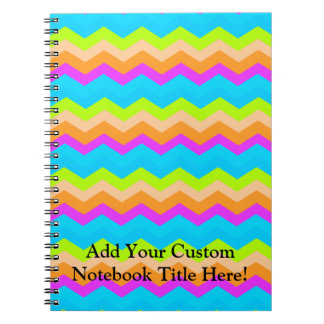 Neon Rainbow Zigzag Notebooks