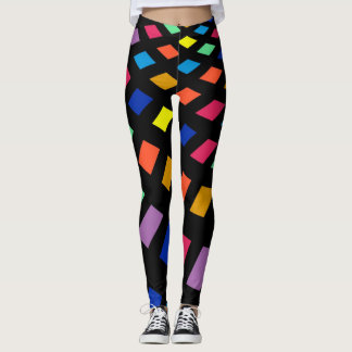 Neon Rectangles Leggings