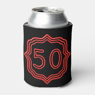 Neon Red 50 Can Cooler