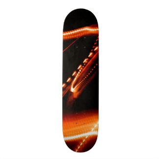 Neon Red and Orange 2 20.6 Cm Skateboard Deck