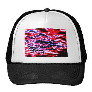 Neon Red Clouds Cap