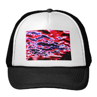 Neon Red Clouds Cap