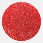 Neon red glitter