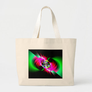 Neon Red Green Abstract Bag