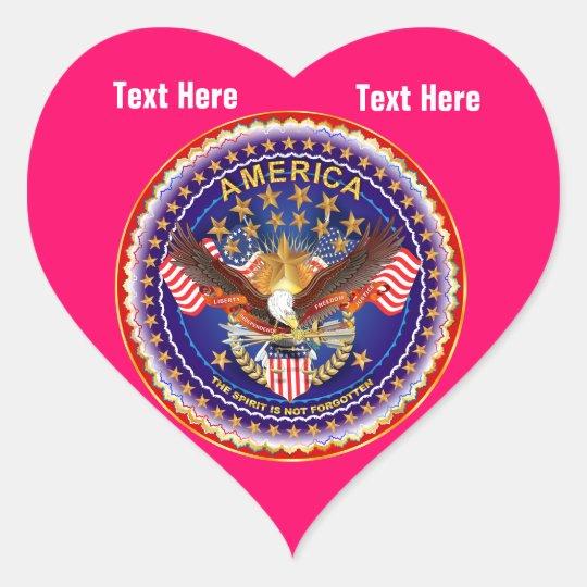 Neon Red Heart Sticker