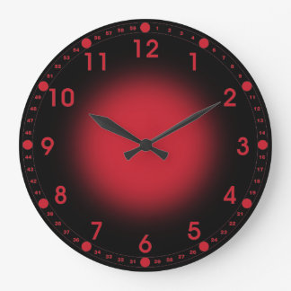 Neon Red Large Clock