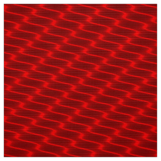 Neon Red Wavy Lines Fabric Pattern