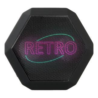 Neon retro. black bluetooth speaker