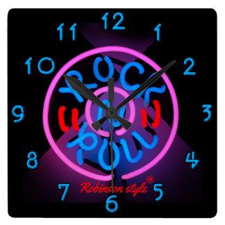 Neon Rock n' Roll personalized Wallclock