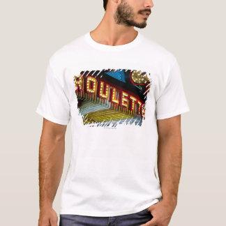 Neon roulette sign at casino, Las Vegas, Nevada T-Shirt