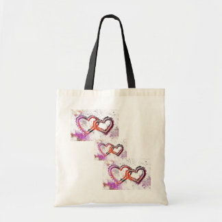 Neon Sand Hearts Tote Bags