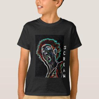 Neon Scream Face kids tshirt