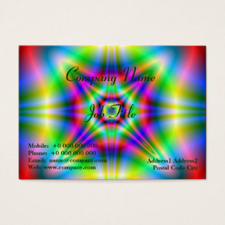 Neon Shapes Chubby Business Card