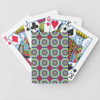 Neon Shapes Tiled Playing Cards