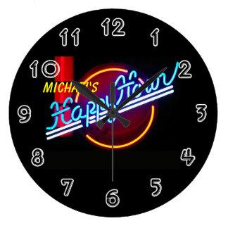 Neon Sign Bar Clock