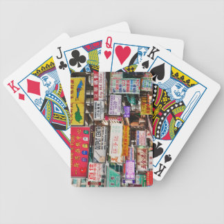 Neon signs in the streets of Hong Kong Bicycle Playing Cards