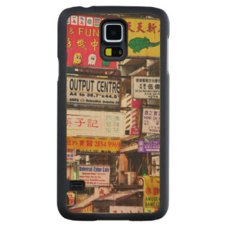 Neon signs in the streets of Hong Kong Carved Maple Galaxy S5 Case