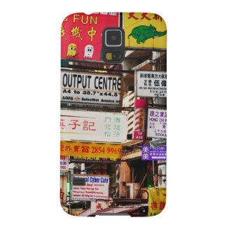 Neon signs in the streets of Hong Kong Cases For Galaxy S5