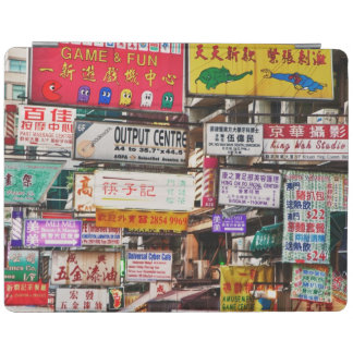 Neon signs in the streets of Hong Kong iPad Cover