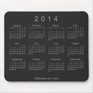 Neon Silver 2014 Calendar Mouse Pad