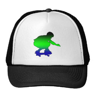 Neon skateboarder trucker hat