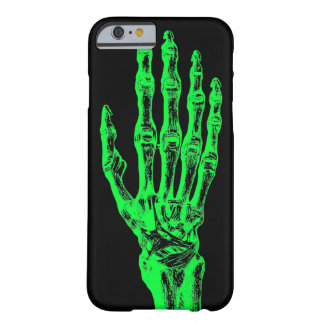 Neon skeleton hand barely there iPhone 6 case