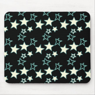 Neon Sketchy Stars Mousepad