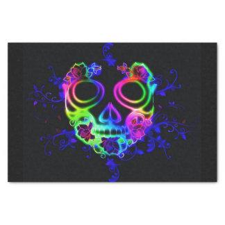 neon skull face tissue paper