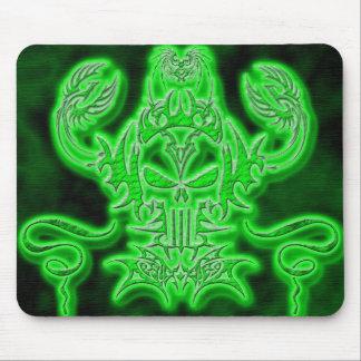 Neon Skull Mouse Mat