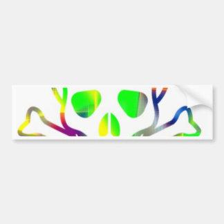 Neon Skull white Bumper Stickers