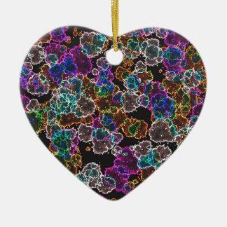 Neon Slash Ceramic Heart Decoration